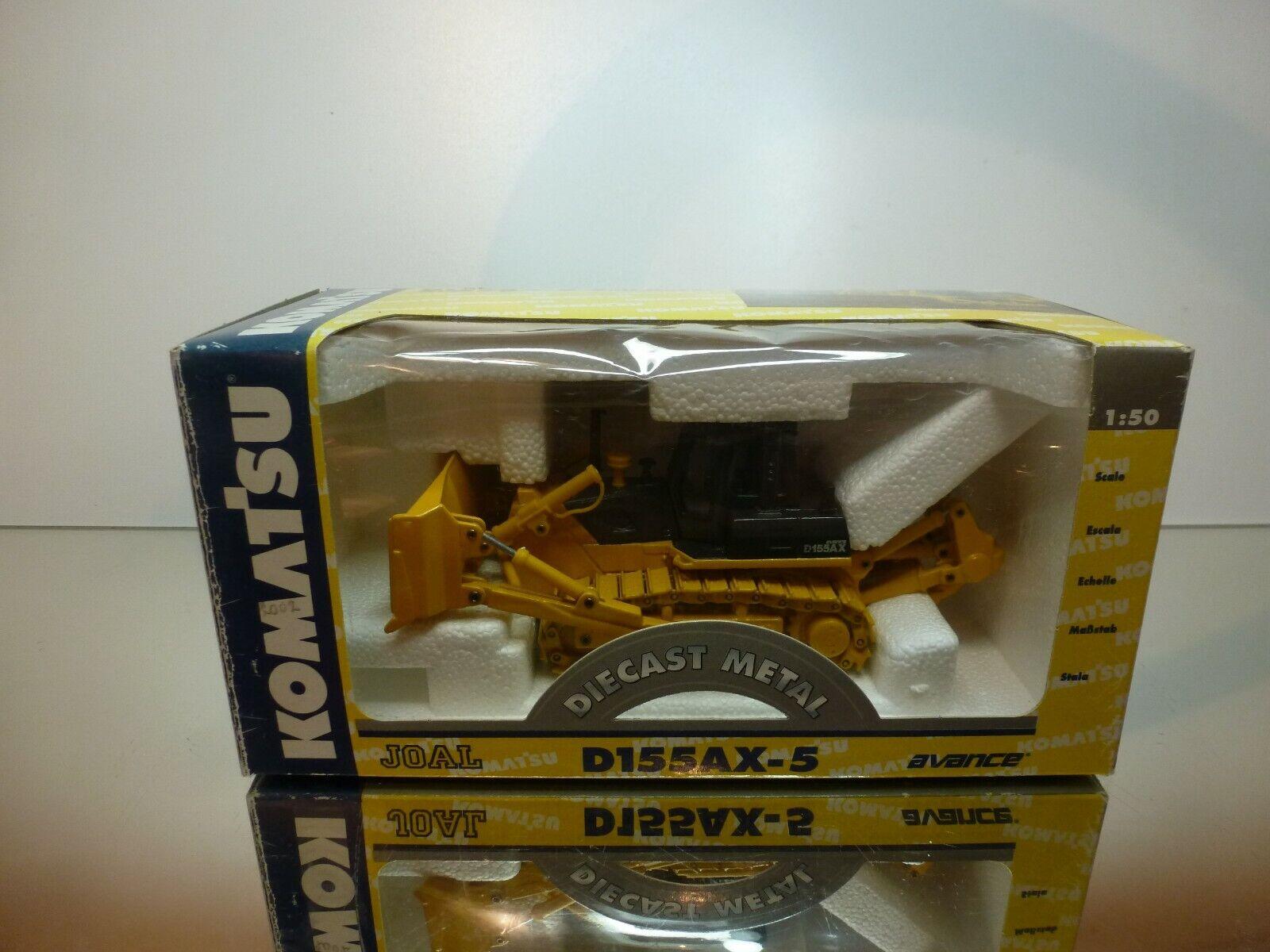 JOAL 277 KOMATSU D155AX-5 BULL DOZER - giallo 1 50 - EXCELLENT IN BOX