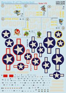 Print Scale Decals 1/72 República P-47D Rayo #72385