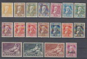 ESPANA-1930-SERIE-NUEVA-COMPLETA-SIN-FIJASELLOS-MNH-EDIFIL-499-16-GOYA