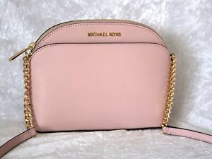 Details zu MICHAEL KORS TASCHE JET SET TRAVEL MD DOME CROSSBODY BLOSSOM ROSA NEU LEDER