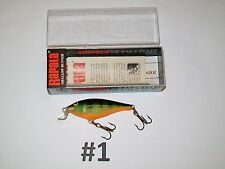Rapala SSR 5 P Perch Shad Rap Finland Lure Fishing - NIB (#1 - GT3465)