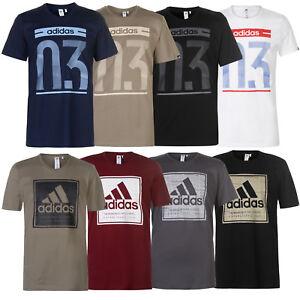 Adidas Uomo T-Shirt Logo Maglietta QT83 Maglia a Maniche Corte Cotone S XXL