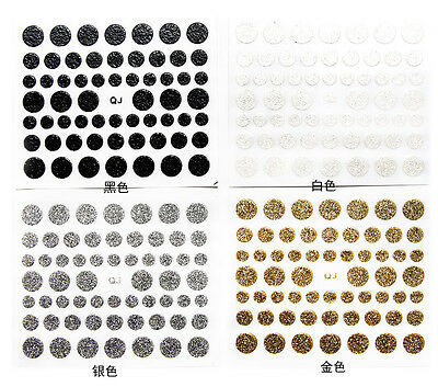 1Sheet Nail Art Stickers Decals Polka Dot Glitter Shine Beauty Create Own Style