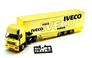 Rietze-1-87-Iveco-EuroTech-Eurokoffer-Sattelzug-Iveco-Werbung-Gold-Edition