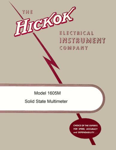 Hickok 1605M Solid State Multimeter Operators /& Maintenance Manual