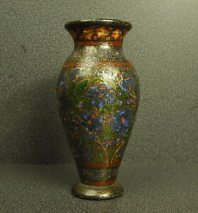 Piccolo Vaso Antico IN Legno Dipinto Small Old Painted Wood Lackiertem Holz 15cm
