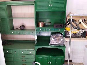 Dettagli su Mobile credenza cucina colore verde