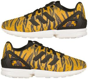 507dbc2f0 Adidas Originals Junior Girls infant ZX Flux Animal Print Trainers ...
