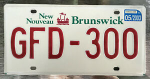 AUTHENTIC-CANADA-2003-NEW-BRUNSWICK-034-VIKING-034-LICENSE-PLATE-GFD-300