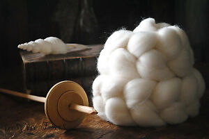 Natural White Falkland Wool Combed Top 5 Pounds Un-dyed