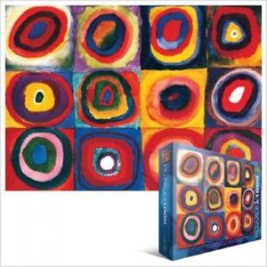EG60001323 Eurographics Puzzle 1000 Piece Color Study of Squares Kandiski