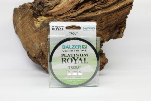 Balzer Platinum Royal Trout 150m 3 Stärken 3 Farben Forellenangeln NEW OVP