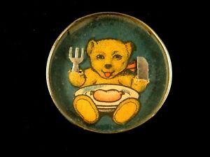 Ancien Jeu Patience Adresse Dexterity Game Réunis Ourson Fourchette Couteau 1930