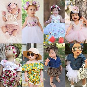 Newborn-Baby-Girl-Floral-Dress-Romper-Bodysuit-Jumpsuit-Outfits-Sunsuit-Clothes