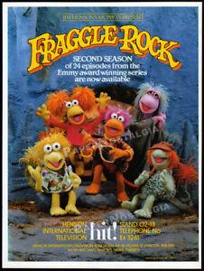 FRAGGLE-ROCK-Orig-1984-Trade-print-AD-TV-promo-poster-JIM-HENSON-039-s-MUPPETS