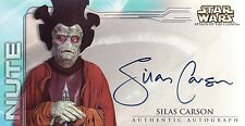 Star Wars Attack of the Clones Silas Carson as Nute Gunray Auto Card AOTC