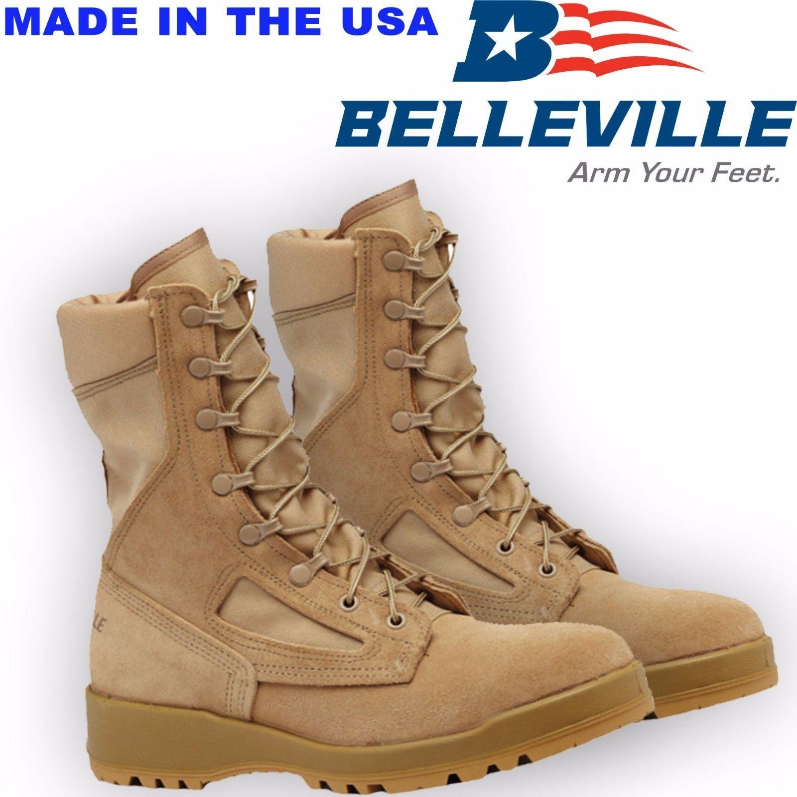 Genuine US Army Belleville 340 Boots Desert Hot Weather Flight/Combat Boots 340 984229