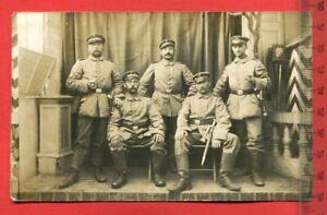 Foto-AK-1-WK-Militaer-Soldaten-Kolonne-Seitengewehr-Schirmmuetze-1914-64162