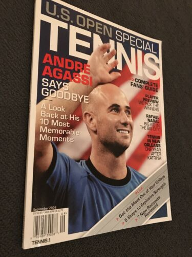 ANDRE AGASSI 2006 RARE USA US OPEN TENNIS MAGAZINE