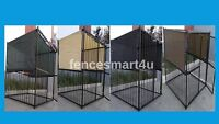 10' X 10' Uv Rated Dog Kennel Shade Cover W/grommets