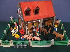 PLAYMOBIL VINTAGE 3556 FARM HOUSE GRINDING WHEEL WAGON 99% COMPLETE - VERY NICE!