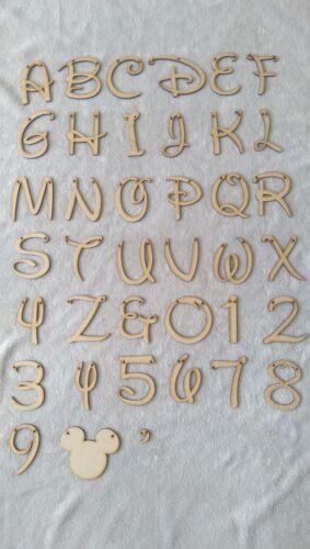 Laser Cut MDF Personalised Bunting Disney Font-Price Per Letter Names Birthdays*