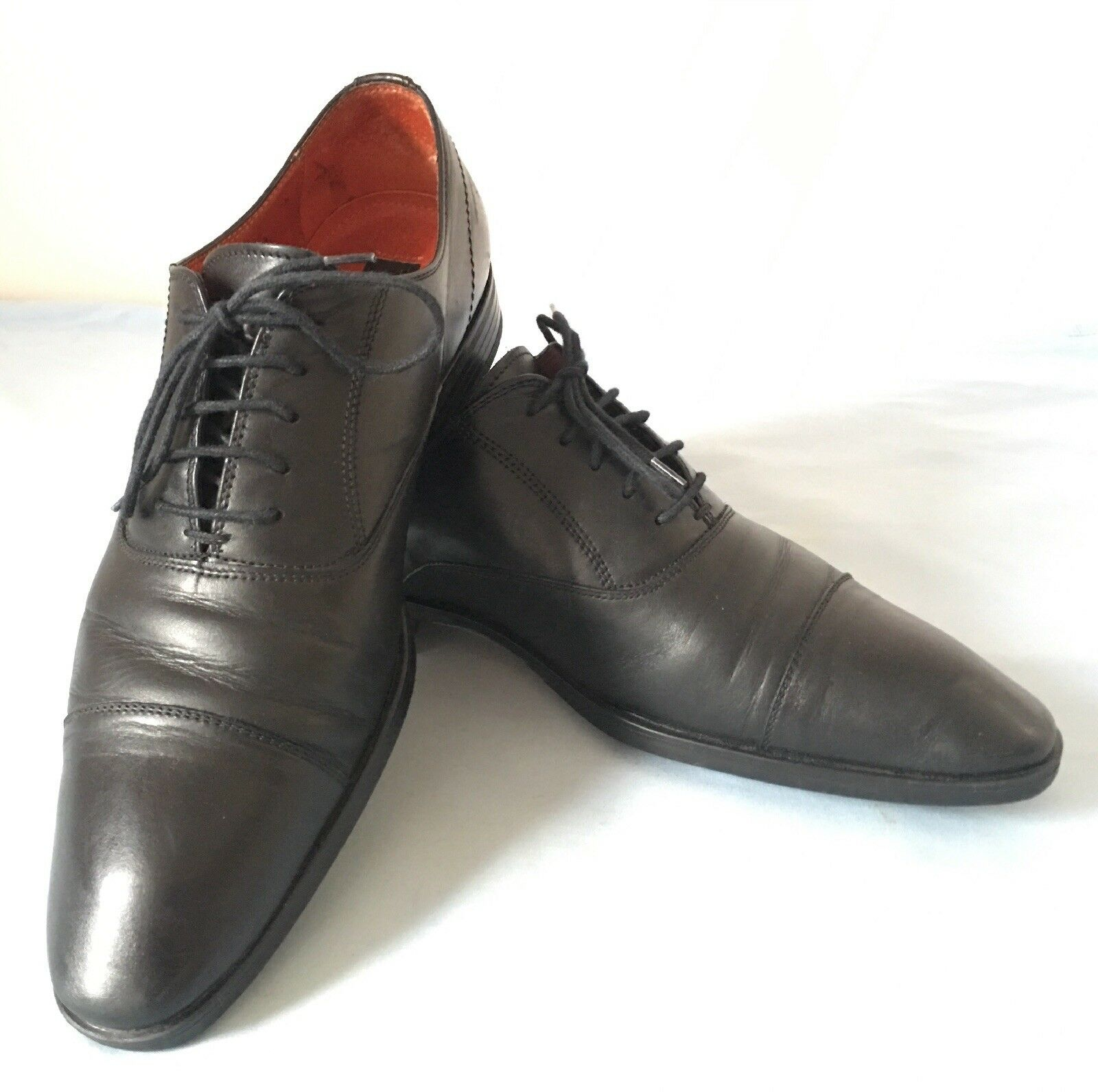 Men's Shoes Black Formal Leather Shoes Men's - UK Size 7 780115