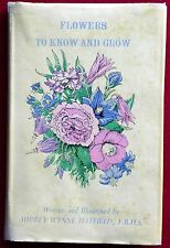 """BEAUTIFUL & RARE BOOK; 1950 ~ """"FLOWERS TO KNOW AND GROW"""" ~ FROM UNITED KINGDOM"""