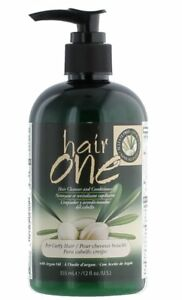 Hair-One-Hair-Cleanser-amp-Conditioner-with-Argan-Oil-for-Curly-Hair-12-Oz-355-mL