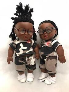 uk cute black brownmixed race12in boy doll hair twist