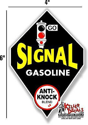 "SIG-1 6/"" ROUND SIGNAL GASOLINE ANTI KNOCK GAS PUMP OIL TANK DECAL"
