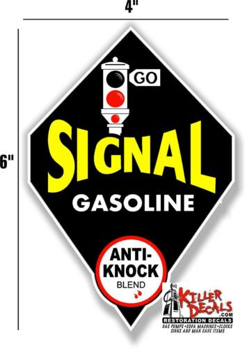 """SIG-3 6/"""" SIGNAL GASOLINE GAS PUMP OIL TANK LUBSTER LUBESTER DECAL"""