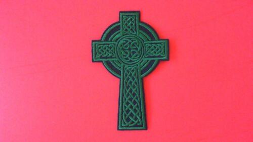 New Ireland Irish Scotland Scottish Wales Welsh Celtic Cross Iron On Patch