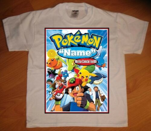 NEW Pokemon Personalized Birthday Party Favor Gift T-Shirt