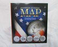 Statehood Quarters Collector's Map Whitman 1999-2009