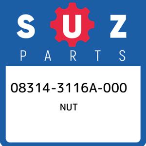 08314-3116A-000-Suzuki-Nut-083143116A000-New-Genuine-OEM-Part