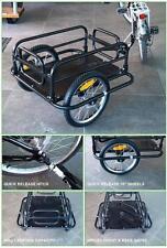 """Bicycle Cargo/Dog Trailer 16"""" Q/R Bike Wheels Folds Flat 60kg Max"""