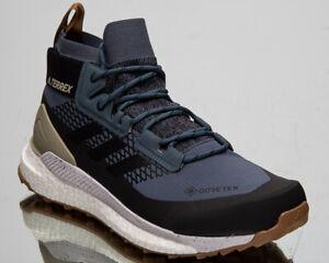 Adidas-Terrex-Free-Hiker-GTX-Wanderschuhe-Herren-Gore-Tex-Legacy-Blau-Sneakers