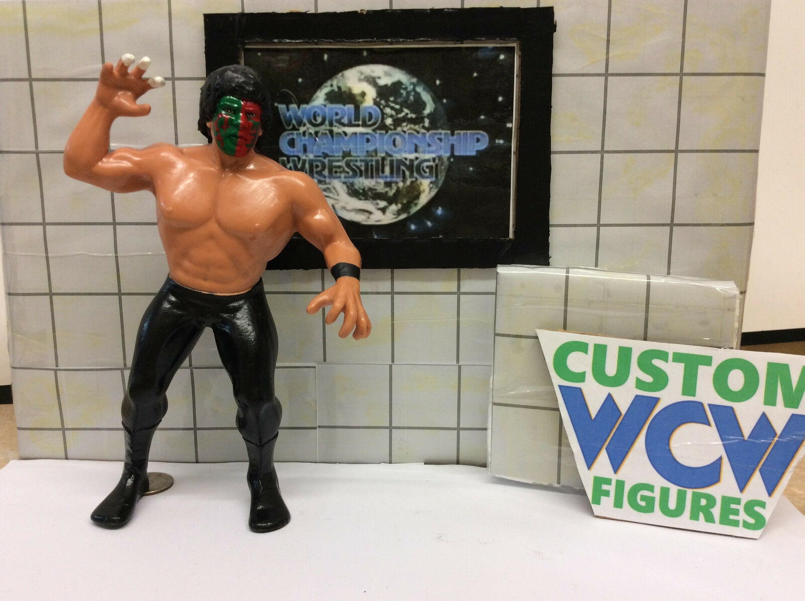 WWF LJN Custom Hand painted Sculpted The Great Muta WCW figure