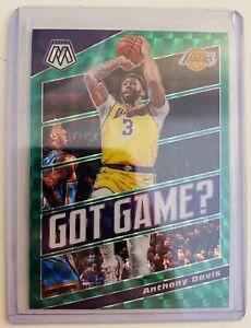 2019-20 Panini Mosaic Got Game? Green ANTHONY DAVIS Los Angeles Lakers