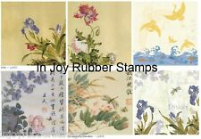 "Kodomo Beautiful Asian 12x12"" Scrapbooking Paper, Vellum Lot #1, 17 Sheets"