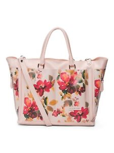 312d687810af Image is loading CAVALCANTI-Floral-Pink-Multi-Leather-Shoulder-Bag-Purse-