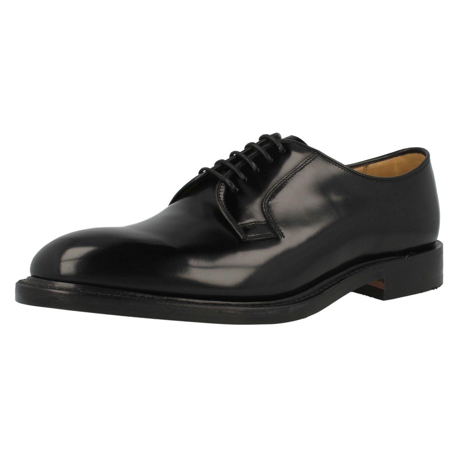 Loake 747B da uomo nera in pelle tutte le scarpe formali