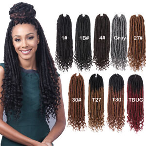 20'' Soul Goddess Faux Locs Curly Ends Crochet Braids Synthetic Hair Extensions