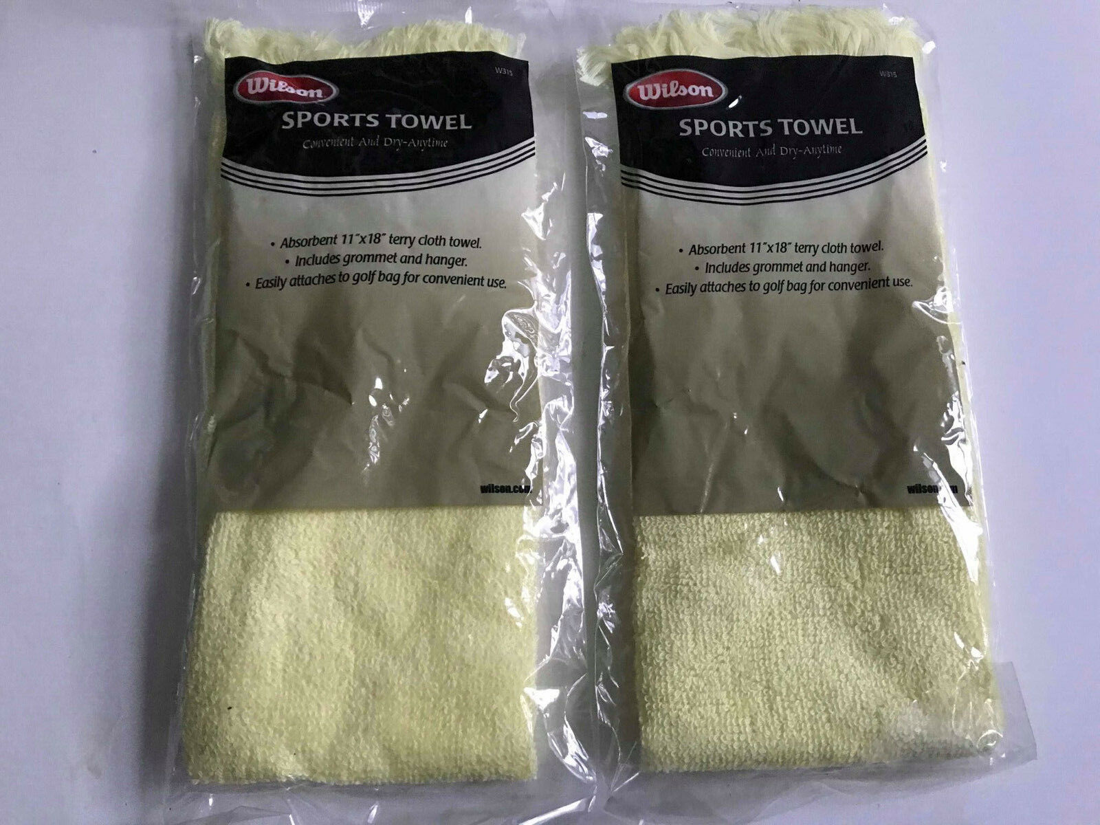 ( LOT OF 2 ) Wilson Sports Towels Convenient and dry anyt W315 11