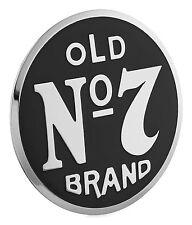 Jack Daniels Old No 7 Chrome Aluminum Black Emblem 2.5 Motorcycle Car Truck