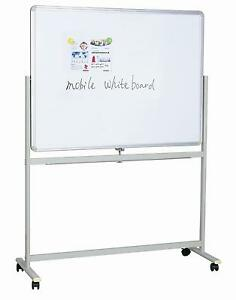 Whiteboard-Double-Sided-Mobile-Magnetic-Revolving-360-degree-Office-Home