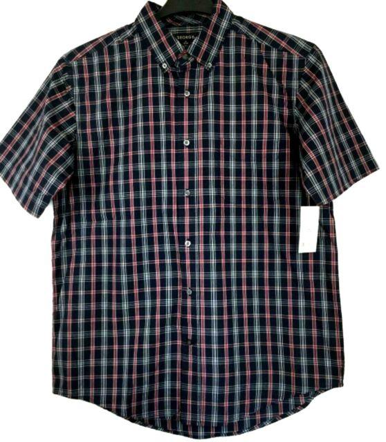 Columbia Shirt Top NEW NWT Men/'s Size M Medium Button Down Plaid Red Navy