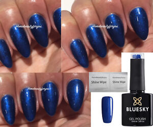BLUESKY-GEL-POLISH-BLUE-SHIMMER-MIDNIGHT-SWIM-80539-LED-UV-SOAK-OFF-ANY-2-FILE