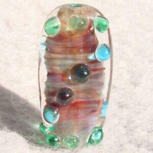 DREAMER Handmade Art Glass Focal Bead Flaming Fools Lampwork Art Glass SRA